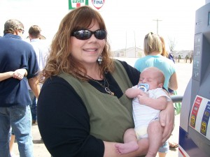 Great-Aunt Val with Baby Colton James Brooks