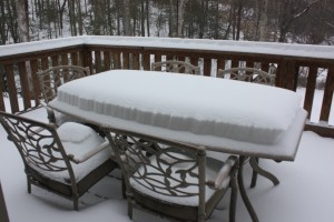 Snow On Our Back Deck