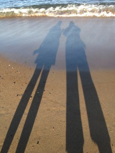 Emily & I at Plum Beach ;)