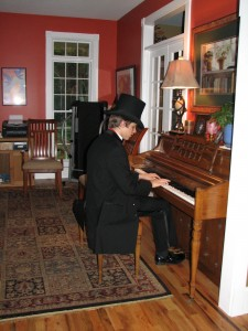 Alex at the Piano in His Victorian Tux