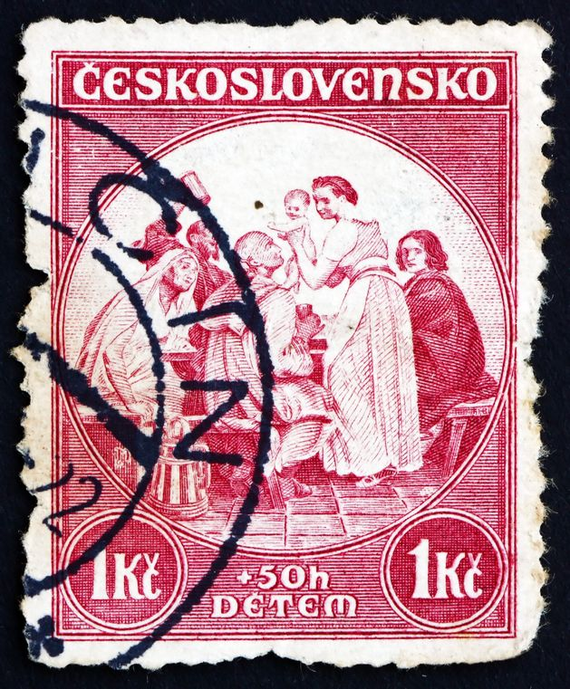 Czech Midwife Stamp, ca. 1936